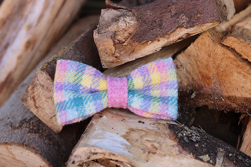 Pastel Check Bow Tie
