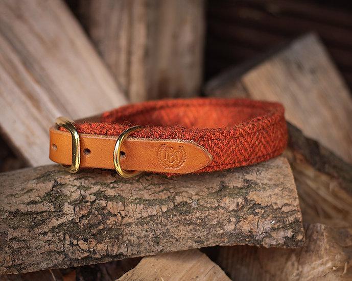 Burnt Orange Harris Tweed Collar - Limited Edition