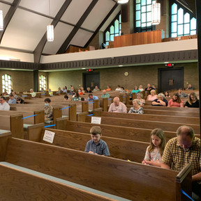 Socially Distant Worship Service