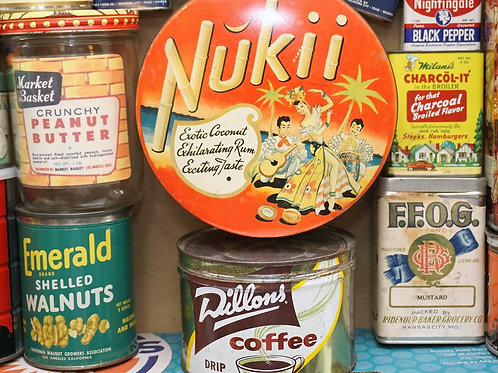 Set of General Store Grocery Tins