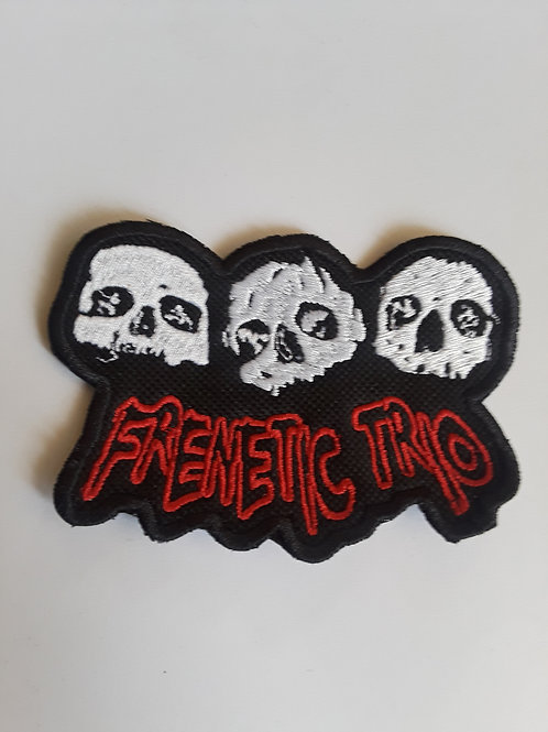 Frenetic Trio Skulls Embroidered Badge