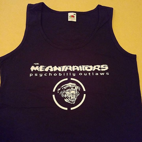 Meantraitors Girls Tank Top Navy Blue