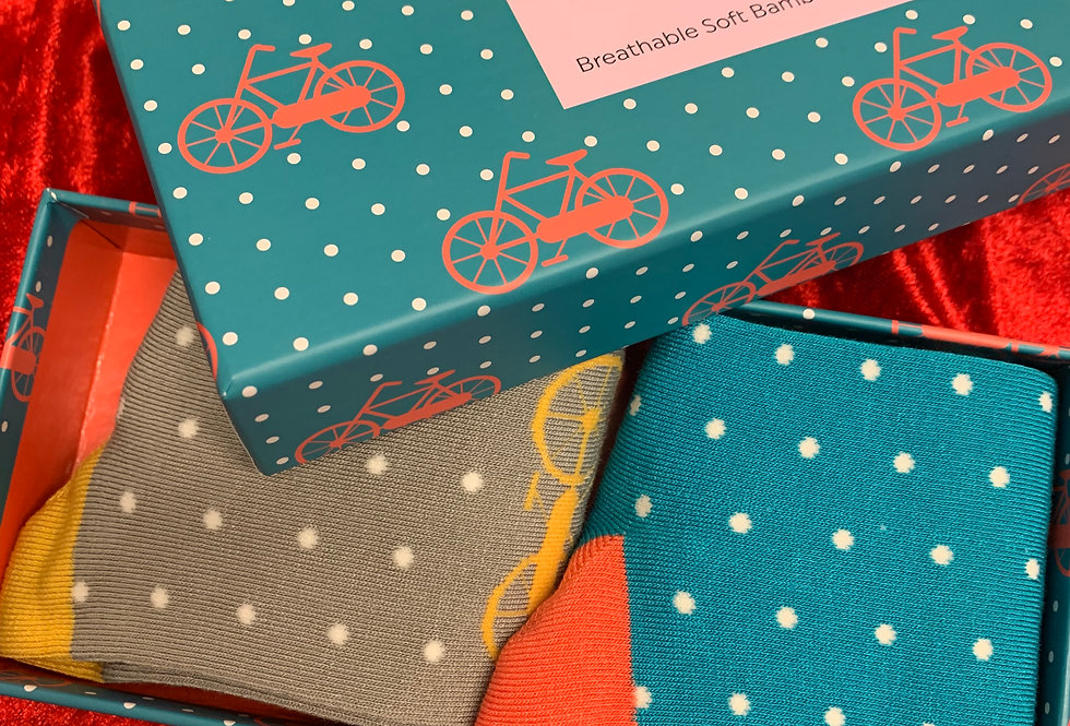 Ladies Bike Bamboo Sock Set | Womens Accessories | Shop Moulina Online or at our Boutique! | View 1
