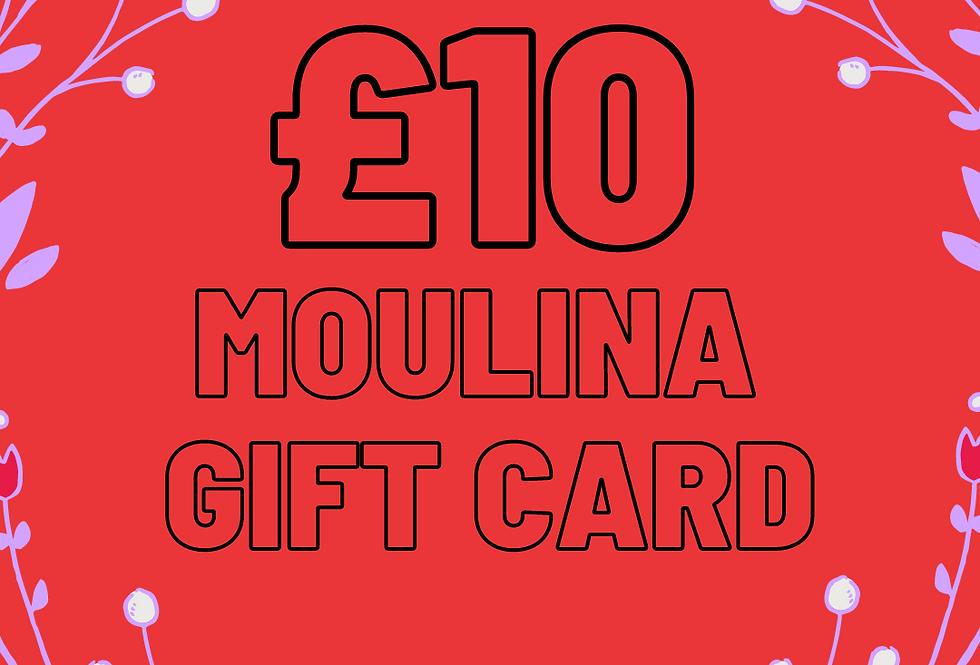 £10 Moulina Gift Card