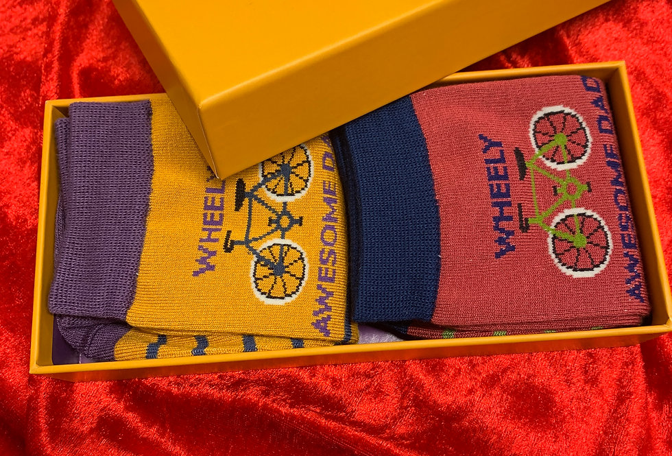 Men's Wheely Awesome Dad Bamboo Sock Set   Womens Accessories   Shop Moulina Online or at our Boutique!   View 1
