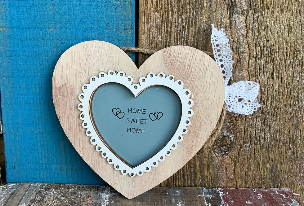 Heart Hanging Frame | Wooden frame in the shape of a rounded heart | Gifts | Ladies Boutique and Giftware | Moulina