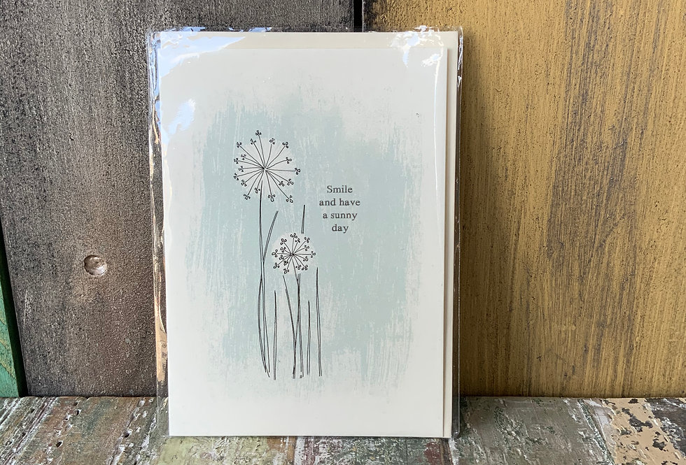 East Of India Smile Card   Greetings Cards   Featuring the text 'Smile and have a sunny day'   Moulina