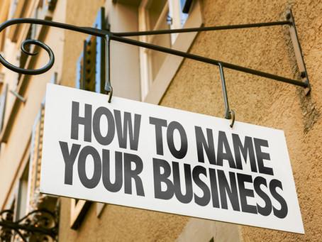 Choosing a Brand Name
