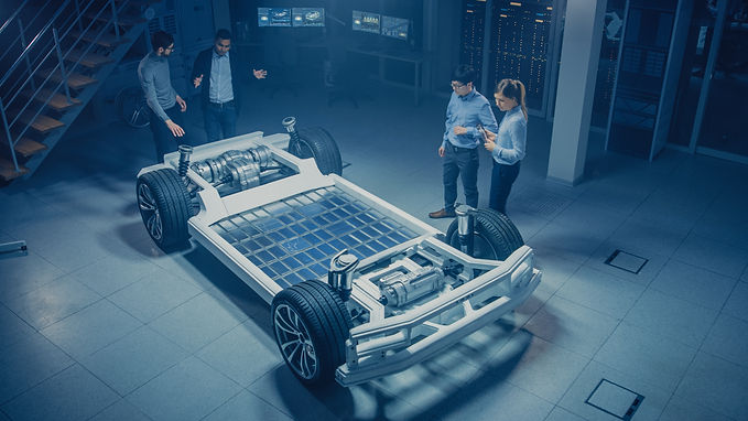 Team of Automotive Engineers Working on