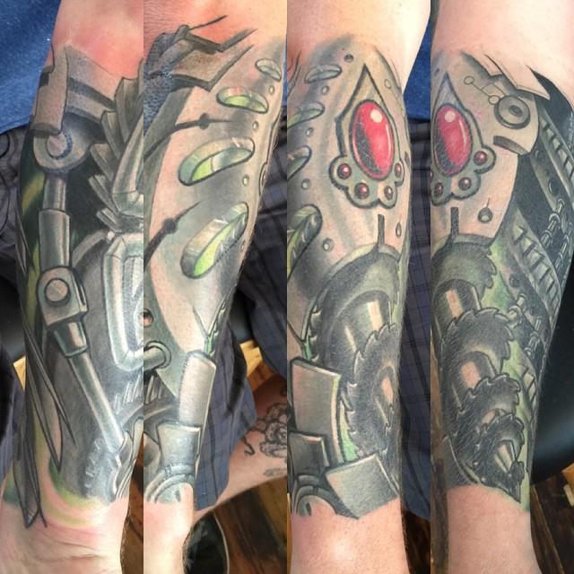 Fun bio-mechanical sleeve in progress