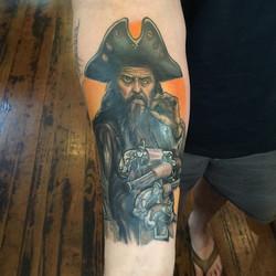 Blackbeard sleeve in progress