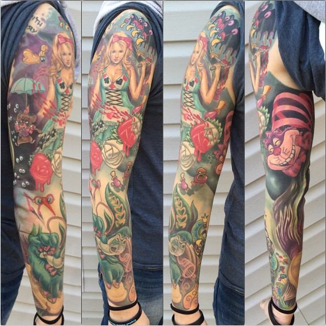 Got to add the last piece to this sleeve the other day. One more pass over a few areas to call this