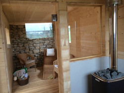 Pendeltüre in Sauna