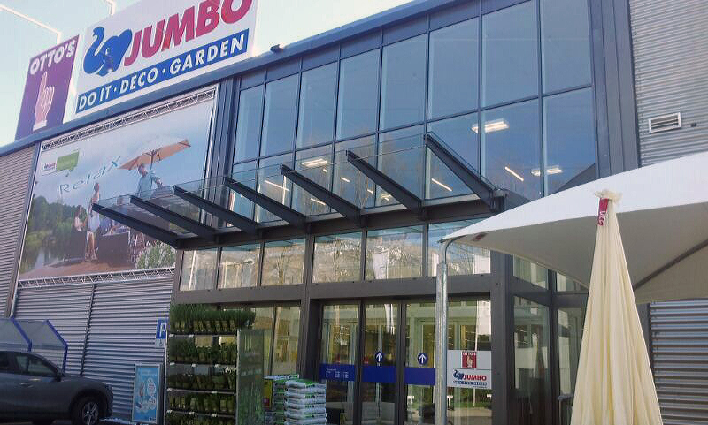 Eingangsfront aus 2-Fach Isolierglas