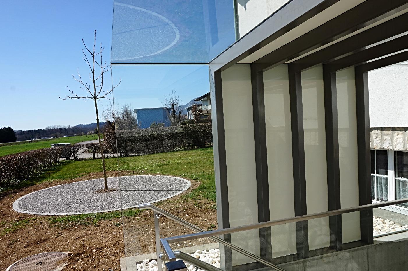 Wetterschutz aus Glas