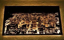 LED Laser Glasbilder