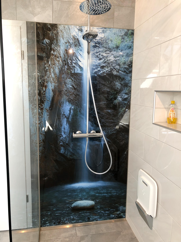 Motivrückwand Dusche