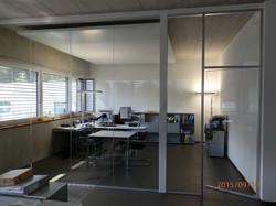schallgeschützte Bürotrennwand