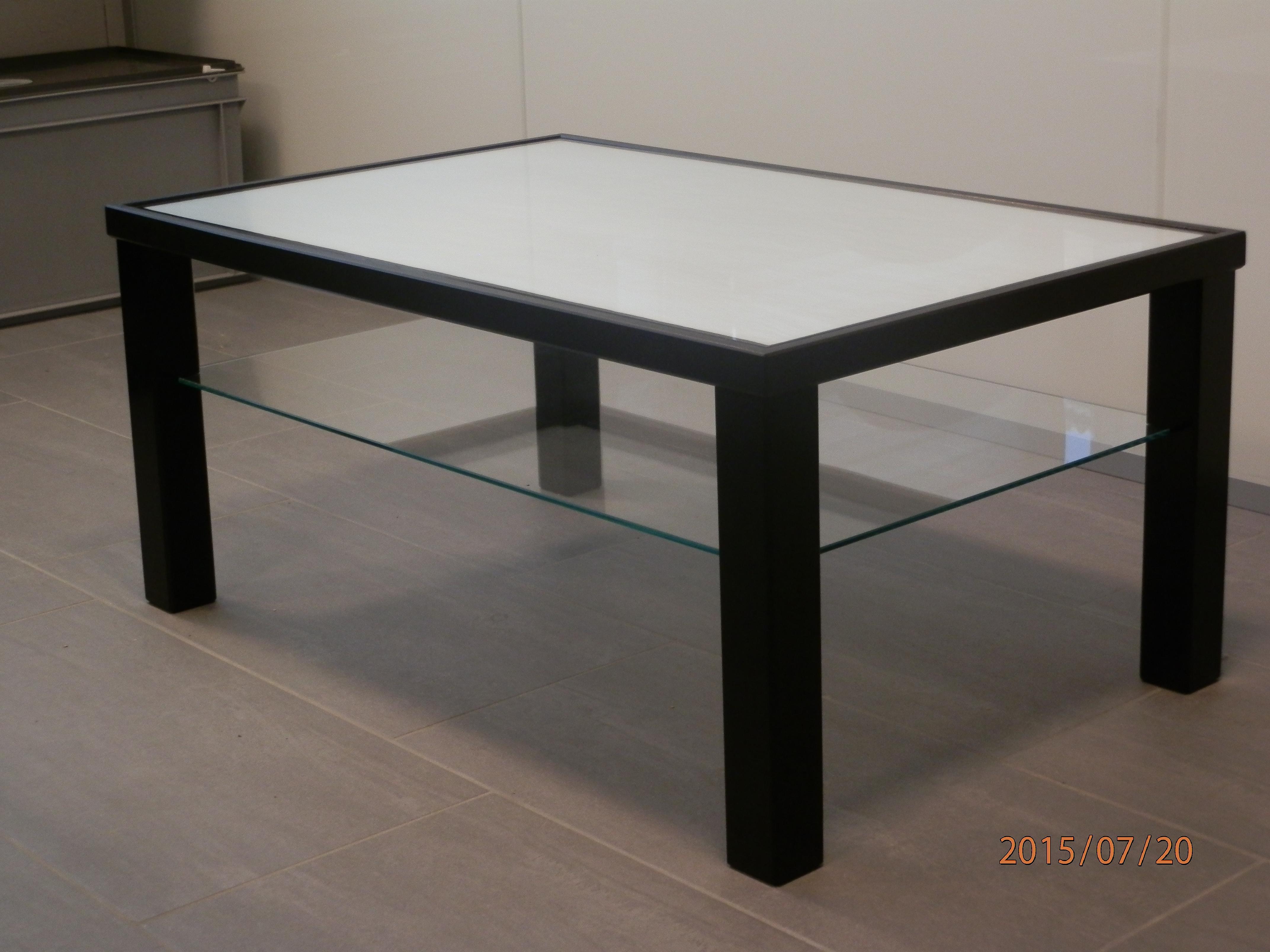Salontisch mit Termolux-Glasplatte