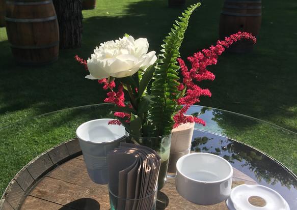 Detall a la taula d'aperitiu