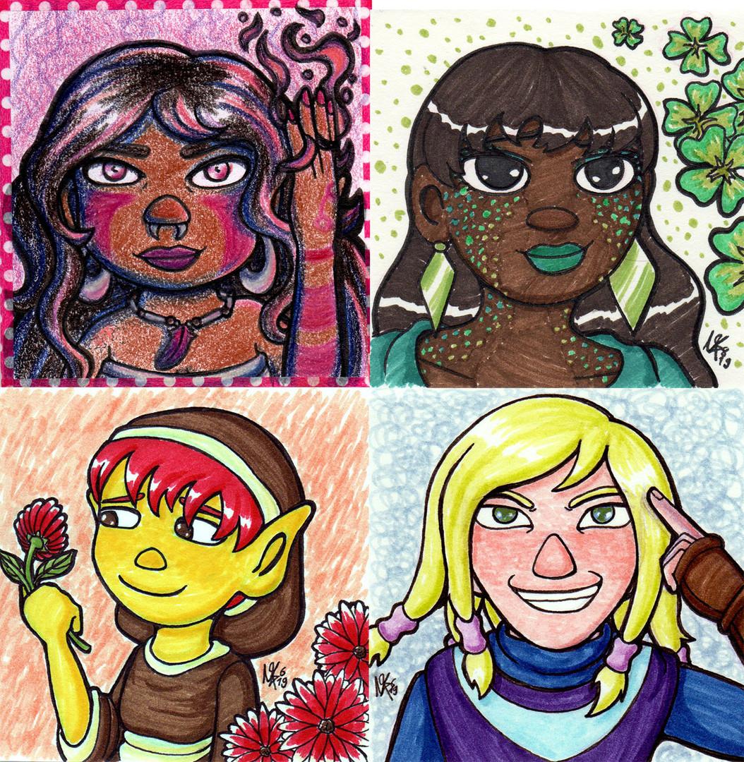 Vier Damen