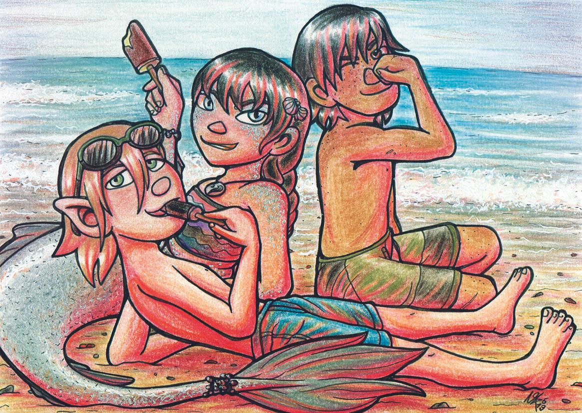 Postkarte Aki