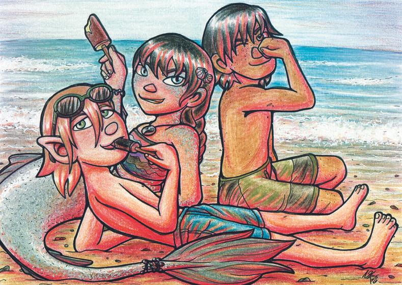 Modern Beach AU