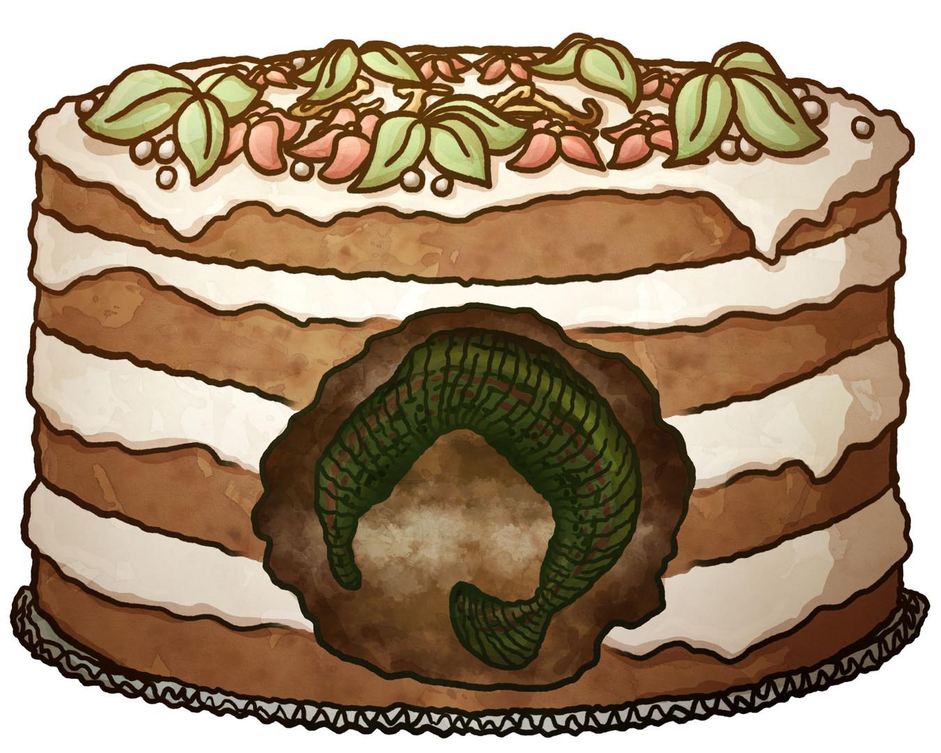 Torte mit Egel