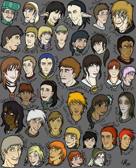 Neue und alte Charaktere