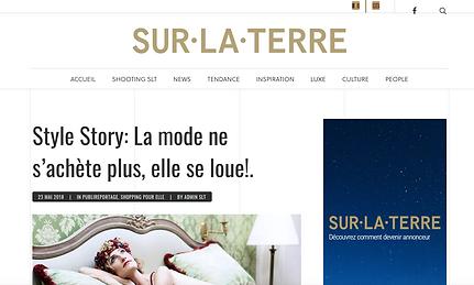 article pour Style Story Sur-la-terre