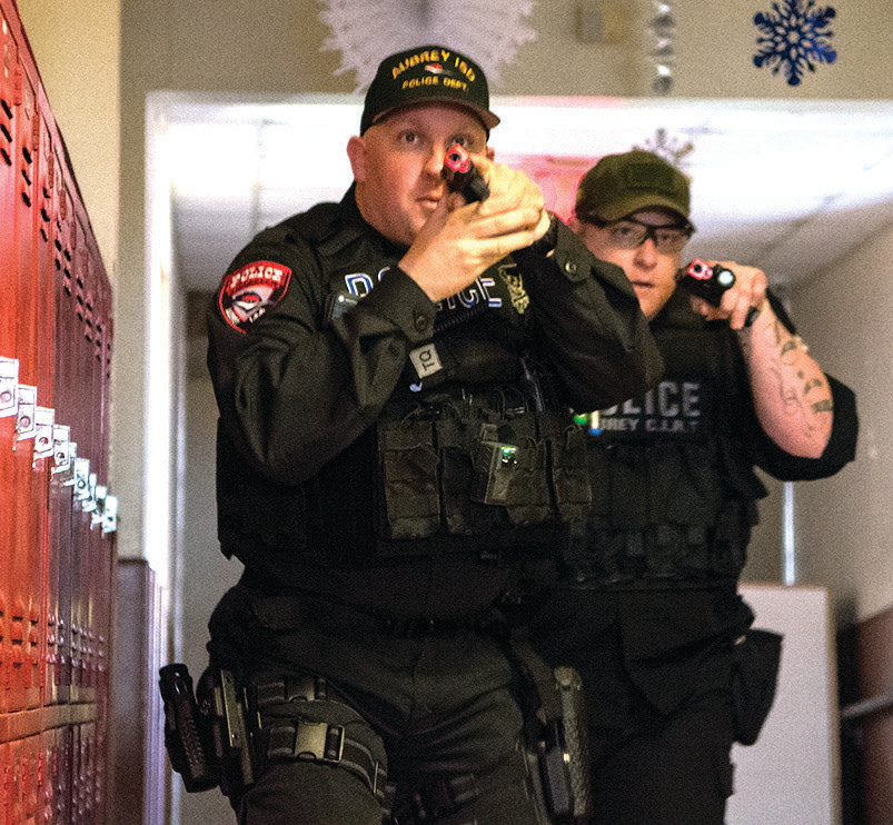 Aubrey ISD police Chief Scott Collins led active shooter training for area police departments in 2015.
