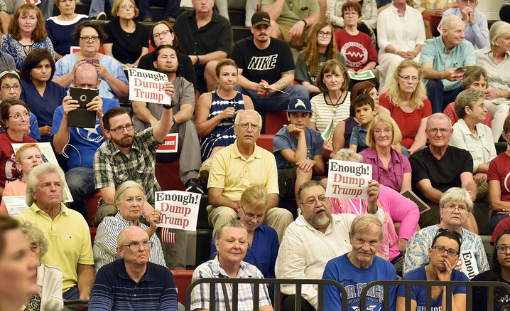 Public gathers for town hall