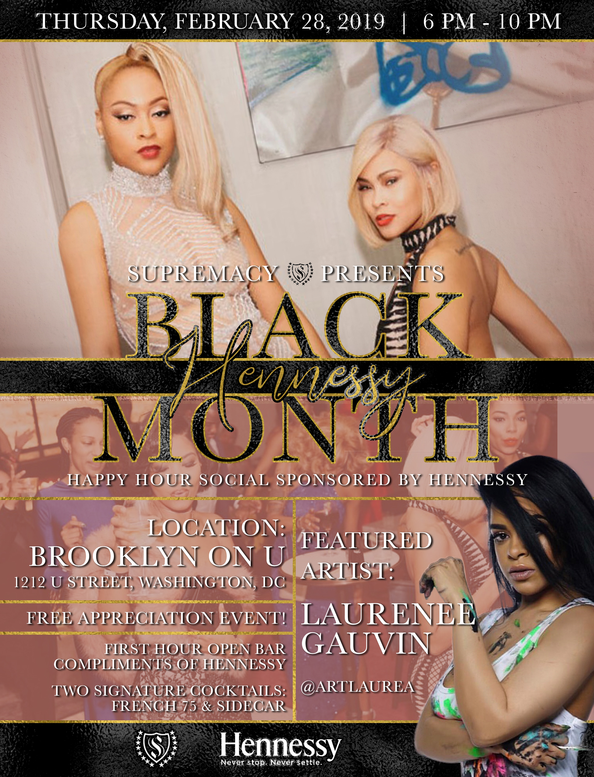 SP Black Hennessy Month Flyer draft 2