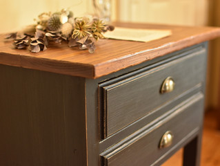 【 2 Drawer Console Table #2】
