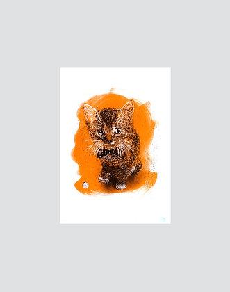 C215 | sérigraphie Charly camel orange