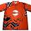 Thumbnail: BBA Jersey - Orange Metal Splash Print