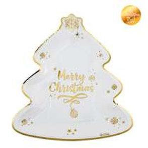 Piatto ALBERO MERRY CHRISTMAS 8 pz