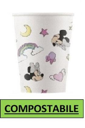 Bicch cartoncino COMPOSTABILE Minnie Unicorn 200 ml 8 pz