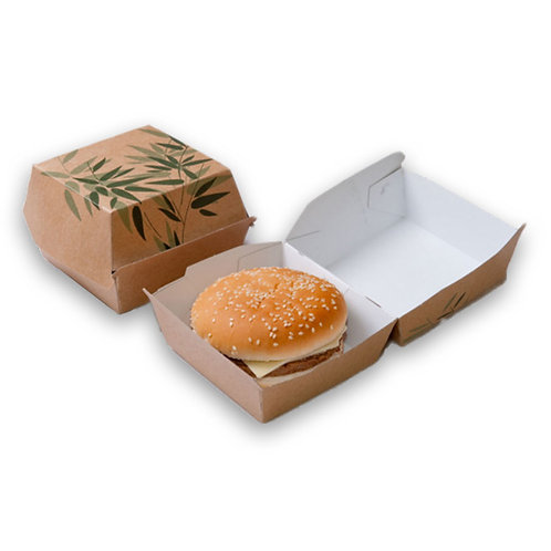 SCATOLE BURGER STANDARD 'FEEL GREEN' 14x12,5x5,5 CM (50PZ)