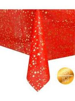 Tovaglia tnt Rossa stelle oro 140x240