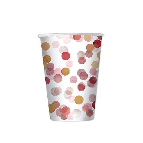 Bicchiere cartoncino 200cc Cordiandoli rosa Pz.8