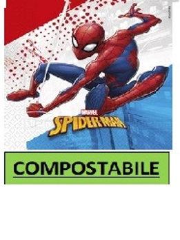 Tovagliolo 33 x 33 3 veli COMPOSTABILE Spiderman Super Hero 20 pz