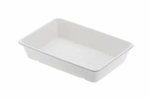 Vassoio fondo in Polpa di Cellulosa mis.Cm.23x15.5x4.5h Ml.800 Pz.50