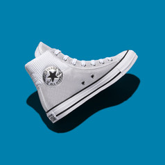 Converse Women's Holiday 2020 Chuck inspired by insulation jackets silver dot technology.