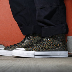Converse CONS Chuck Taylor Pro in suede with screenprinted leopard print for Fall 2018.
