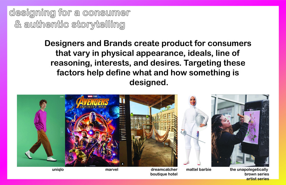 Examples of brands/companies in fashion owning a space and having credibility because of their authentic story telling and prescense. I wanted to give the students examples in fashion, cinema, hospitality, toys, and activicism.