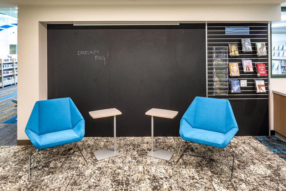 Chalkboard & slat wall