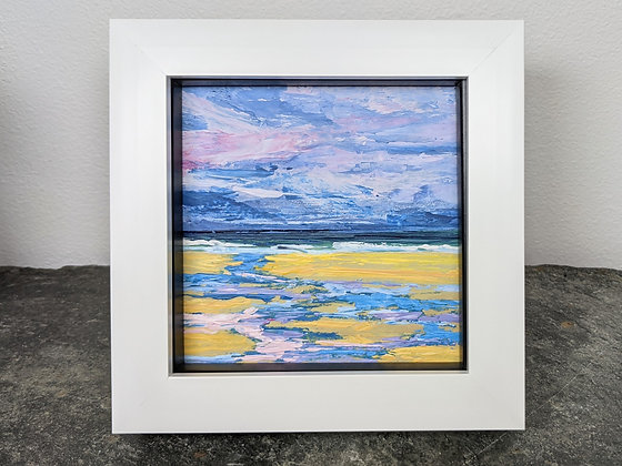 Original Miniature Painting, We're all going to get wet! Cornwall