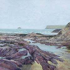 Look Cornish Seascape Rock Cornwall Katy Stoneman