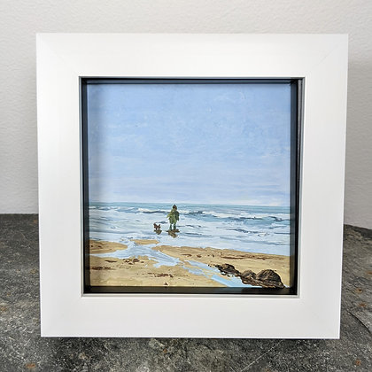 Original Miniature Painting, Side by Side, Cornwall